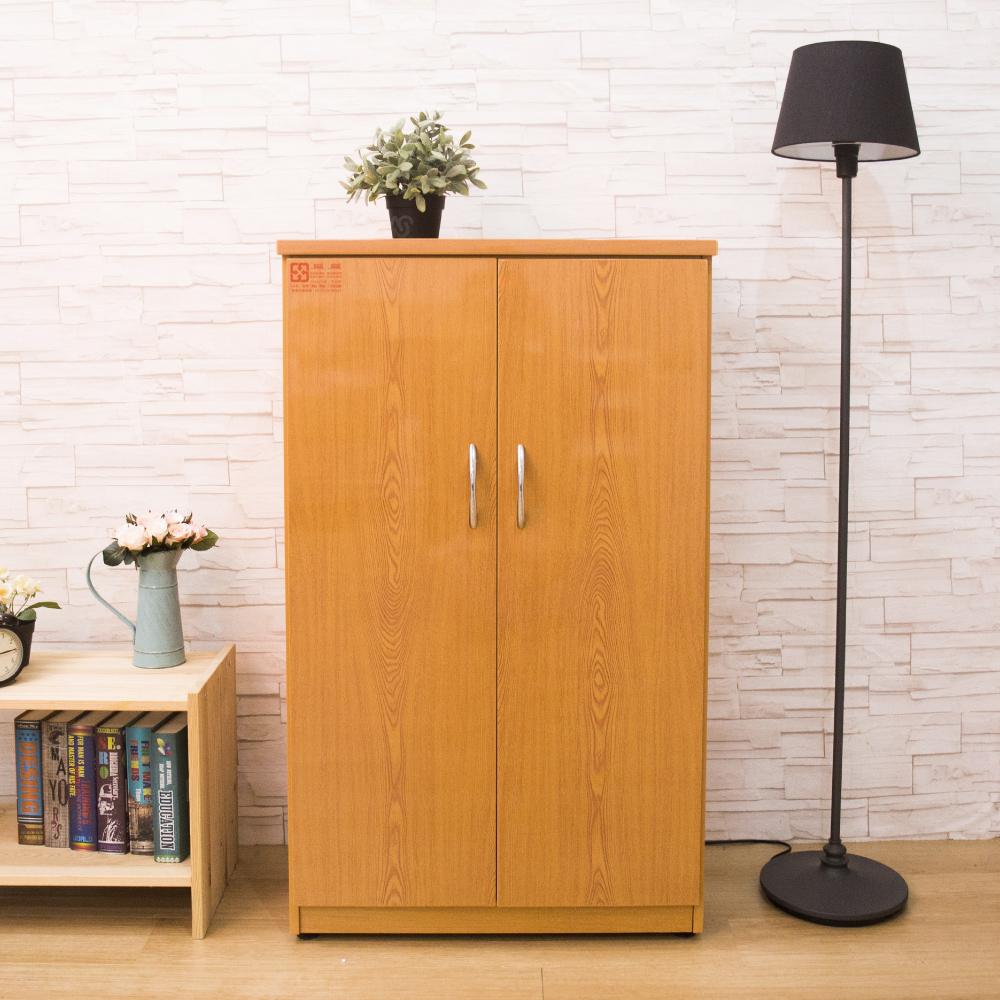 AS-卡蘿塑鋼木紋色雙門鞋櫃-65x37x112cm