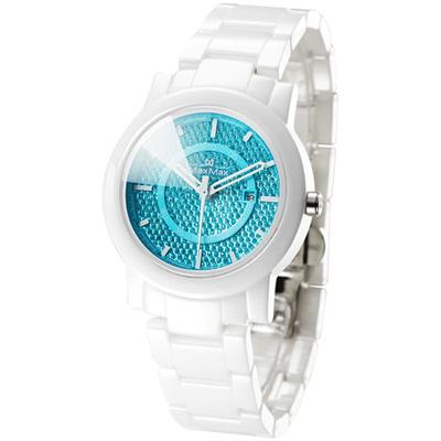 Max Max 電音女神陶瓷腕錶-藍/38mm