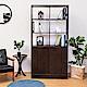 Birdie南亞塑鋼-3尺開放式六格雙拉門塑鋼展示櫃/收納置物櫃/隔間櫃(胡桃色)-90x31x180cm product thumbnail 1