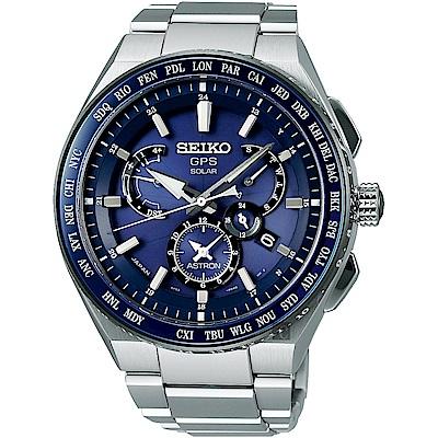 SEIKO精工 ASTRON 8X53 雙時區鈦GPS衛星定位手錶(SBXB155J)