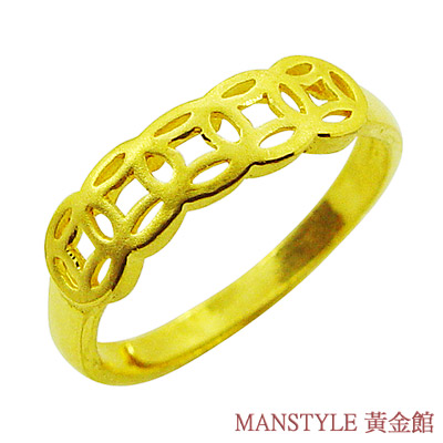 Manstyle 招財進寶黃金戒 (約0.90錢)