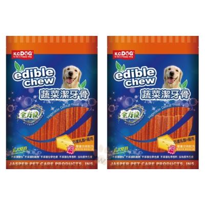 K.C.DOG《蔬菜六角潔牙骨-起司+雞肉》