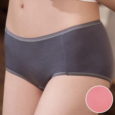 華歌爾 環保奈米級 咖啡紗M-LL低腰平口褲(胭脂粉)