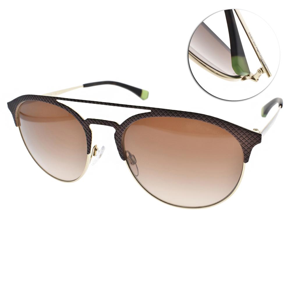 EMPORIO ARMANI太陽眼鏡 率性時尚/棕金#EA2052 318213