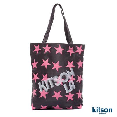 【kitson】星星LOGO購物袋BLACK