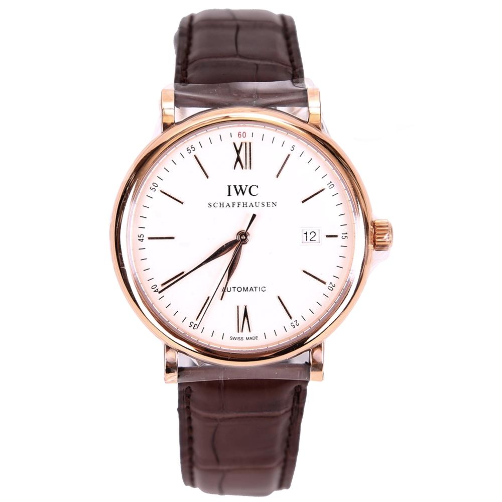 IWC萬國錶IW356504柏濤菲諾18K紅金機械自動腕錶-40mm