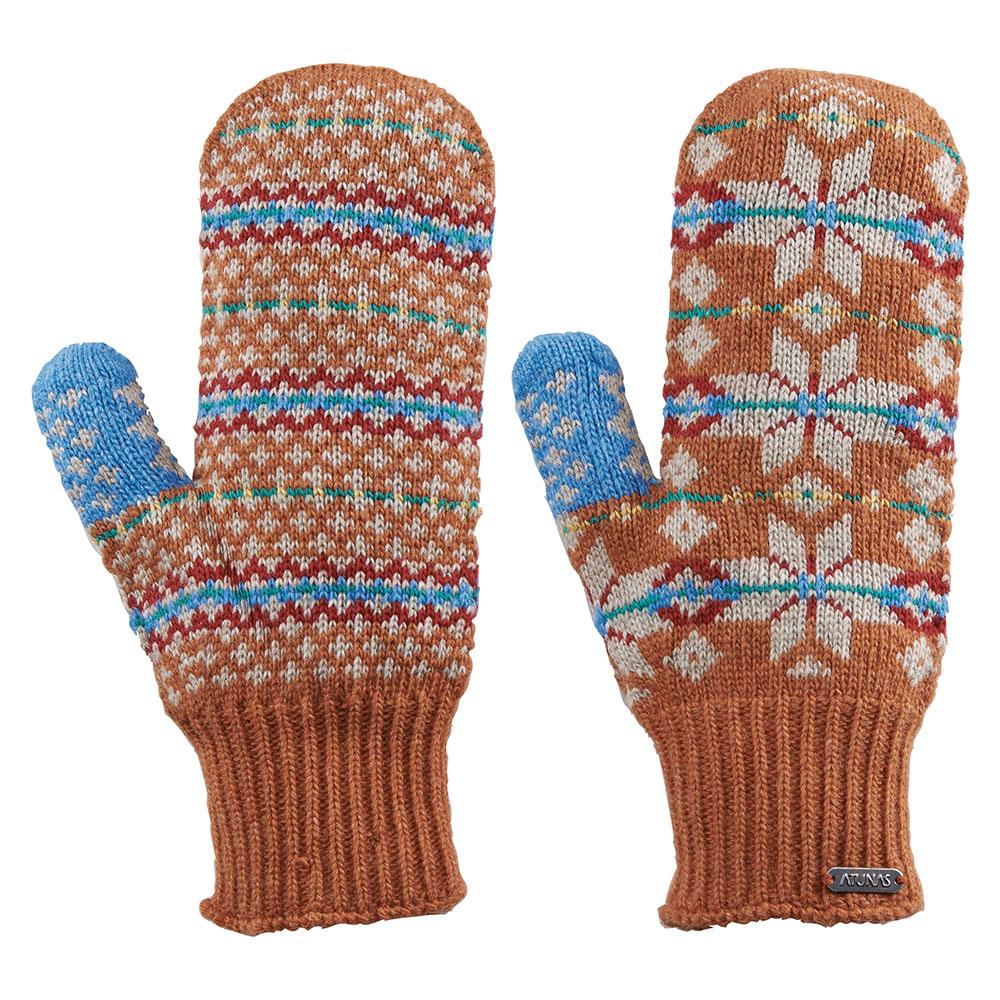 【ATUNAS 歐都納】女款無指保暖手套 A-A1405W 柑