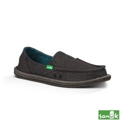 SANUK 素面內民俗圖騰懶人鞋 女款(黑色)
