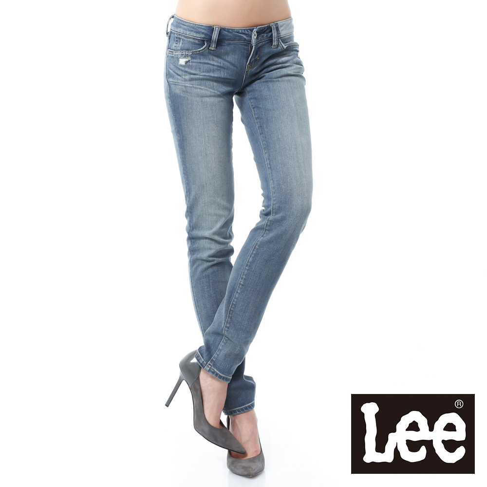 Lee 101+ 牛仔褲 403 超低腰合身窄管 -女款(中漂藍)