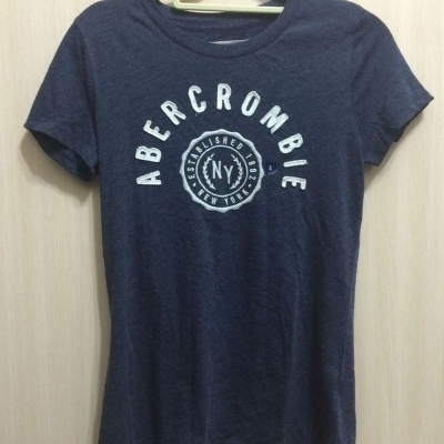 AF a&f Abercrombie & Fitch 女T恤 藍色 0003