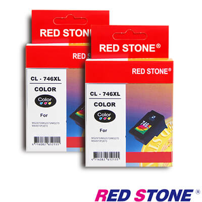 RED STONE for CANON CL-746XL [高容量]墨水匣(彩色×2)