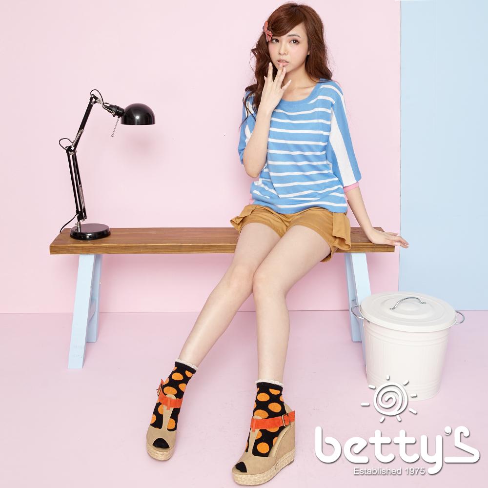 betty's貝蒂思 側身打褶口袋蝴蝶結短褲(深卡其)