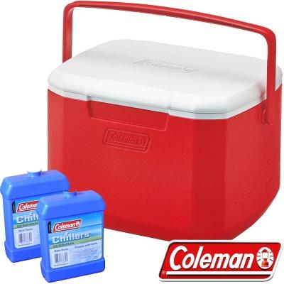 Coleman 27860_紅 15L Excursion行動冰箱+冷媒*2 公司貨保冰桶