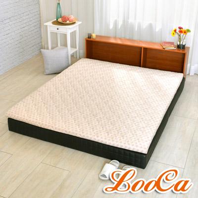 LooCa 天然防蹣防蚊冬夏兩用5cm乳膠床墊 點點 加大6尺