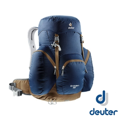 【Deuter】GRODEN 32 直立式透氣背包32L_深藍/咖啡
