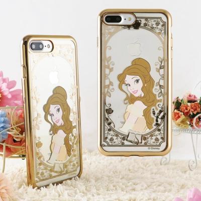 Disney 迪士尼iPhone 8/7 Plus(5.5)電鍍彩繪保護套-公主...