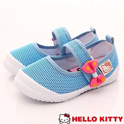 HelloKitty童鞋 高透氣Q軟休閒鞋款 718622水 (中小童段)