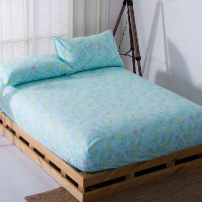 DON花漾歲月 雙人三件式蜜絲絨床包枕套組