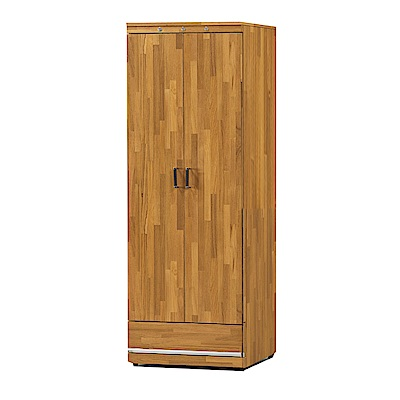 品家居  瑪麗露2尺柚木紋二門單抽高鞋櫃-61x41x179cm免組