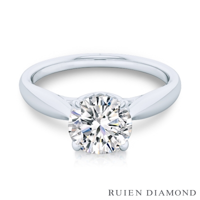 RUIEN DIAMOND GIA50分 D VVS2 3EX鑽石戒指 心動