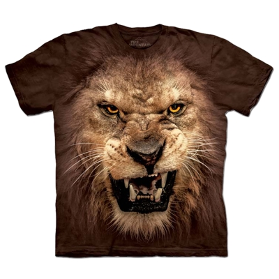 摩達客-美國進口The Mountain 獅吼臉 純棉環保短袖T恤