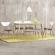 Boden-諾維雅北歐風餐桌椅組(一桌二椅一長凳)120x75x75cm product thumbnail 1