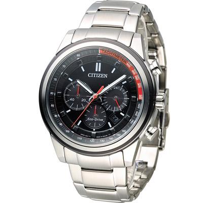 CITIZEN 星辰 Eco-Drive 征服極速計時腕錶(CA4034-50F)-黑/44mm
