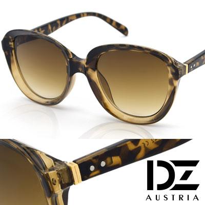 【2件59折】DZ 狂想美學 抗UV太陽眼鏡 墨鏡(玳瑁框漸層茶片)