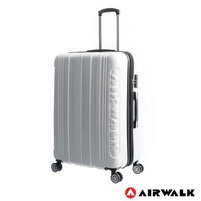 AIRWALK LUGGAGE - 品牌系列  碳纖直紋 28 吋拉鍊行李箱 - 極簡白