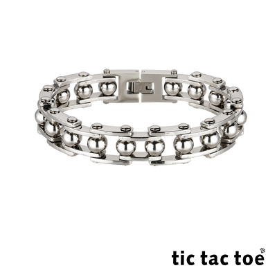 tic tac toe Power白鋼男手鍊