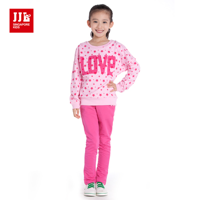 JJLKIDS 經典星星二件式套裝(粉紅)