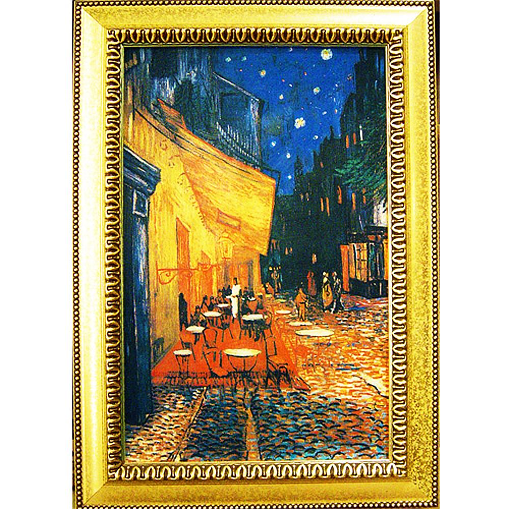 開運陶源《夜間露天咖啡座》梵谷名畫 (43x60cm)