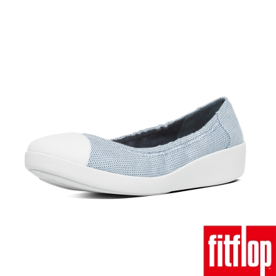 FitFlop TM-F-POP TM BALLERINA CANVAS-藍