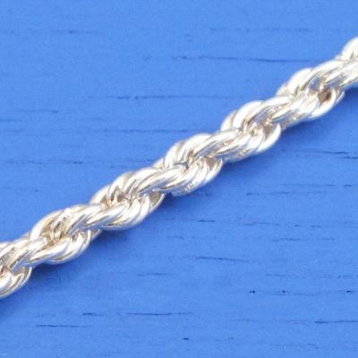 維克維娜 18吋純銀中版3.2mm麻花鍊。義大利925純銀單鍊