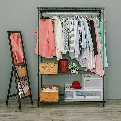 dayneeds輕型三層單桿衣櫥120x45x180cm