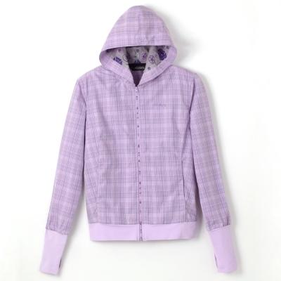 【ATUNAS 歐都納】女款SUPPLEX防曬休閒輕薄外套A1-G1216W 紫格