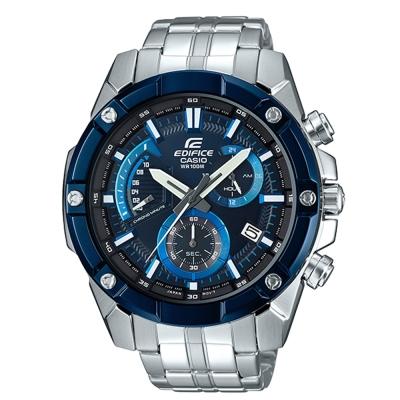 EDIFICE粗曠復古質感螺絲設計賽車計時錶(EFR-559DB-2A)藍面49mm