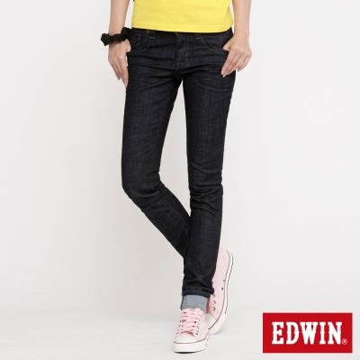 EDWIN MISS 503袋蓋窄直筒牛仔褲_女_原藍色