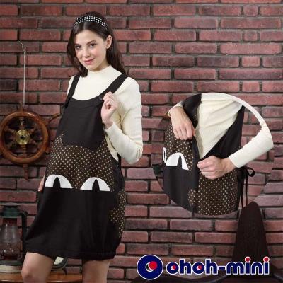 ohoh-mini-孕婦裝-立體可愛喵咪孕哺背心洋裝-2色