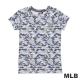 MLB-紐約洋基隊滿版迷彩圓領愛心燙銀印花T恤-紫(女) product thumbnail 1