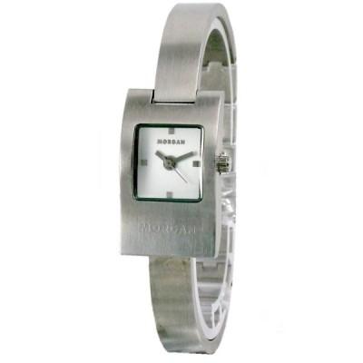 MORGAN 城市簡約曲線個性腕錶-白/17mm