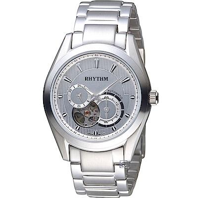 日本麗聲錶RHYTHM小鏤空機械機錶(A1101S06)-40mm