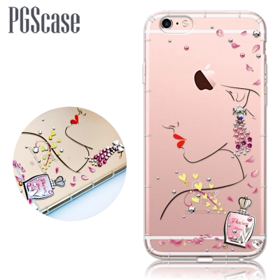 PGS iPhone 6s / 6 4.7吋 奧地利彩鑽防摔手機殼-香吻