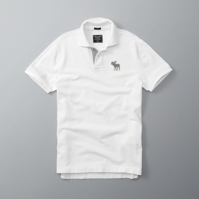 AF a&f Abercrombie & Fitch 短袖 POLO 白色 182