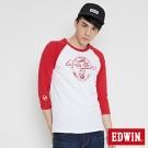 EDWIN MOTO零件拉克蘭七分袖T恤-男-紅色