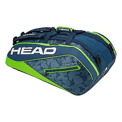 HEAD Tour Team系列 12支裝球拍袋-青綠 283108