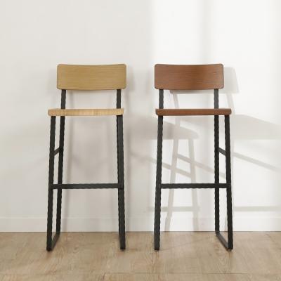 BuyJM LOFT工業風曲木高腳椅/吧檯椅-免組裝