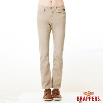 BRAPPERS 男款 男色褲系列-中腰窄版直筒褲-卡其