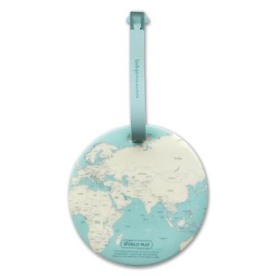 FUNZAKKA 世界地圖旅行吊牌-薄荷綠