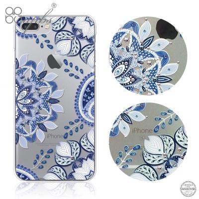 apbs iPhone8/7 Plus 5.5吋施華洛世奇彩鑽手機殼-青花瓷